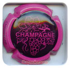 Capsule de champagne THIERCELIN noir mat et fuchsia ctr fuchsia